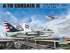 The Hobby Boss Vought A-7B Corsair II in 1/48 scale from the plastic aircraft model range accurately recreates the real life US carrier-borne light attack aircraft. This plastic aircraft kit requires paint and glue to complete.