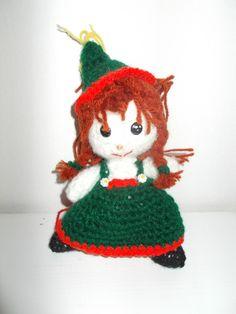 Bambolina irladese: uncinetto e filo di lana di recupero.