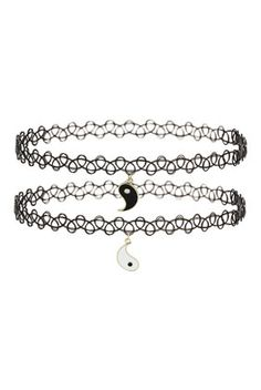 Yin Yang Charm Tattoo Chokers - Jewellery - Bags & Accessories