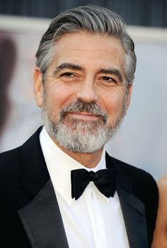 85th Annual Academy Awards - Arrivals: George Clooney  I really want this made into wallpaper.