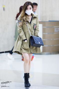 Tiffany snsd airport fashion