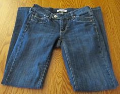 White House Black Market Denim Jeans Womens Size 00R Noir Dark Wash Boot Cut #WhiteHouseBlackMarket #BootCut