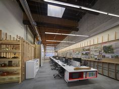 Open office layout and environment from Land Collective's offices in Philadelphia