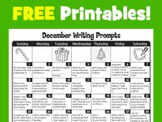 December Writing Prompts from Lakeshore Learning!