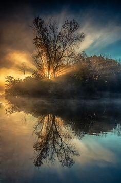 Misty Sunrise by  Krzysztof Hotlos