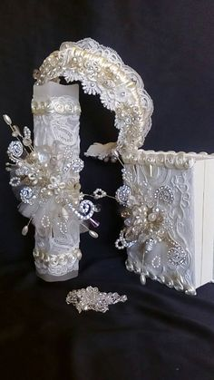 First Communion candle head Comb set sail first communion
