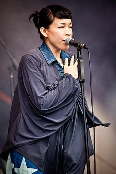 Yukimi Nagano performing with Little Dragon at Parklife festival in Sydney, October 2011