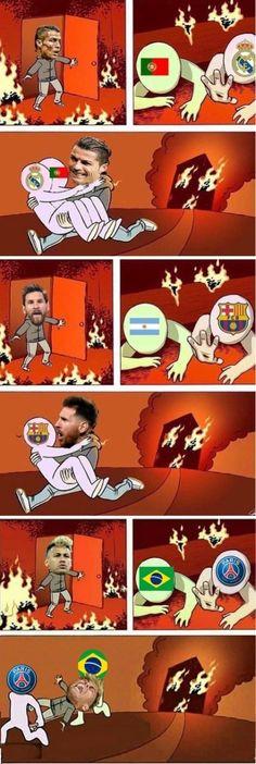 Ronaldo vs Messi vs Neymar time e seleção meme Memes Humor, Funny Jokes, Hilarious, Art Memes, Soccer Memes, Football Memes, Messi Vs Ronaldo, Cristiano Ronaldo, Ronaldo Memes