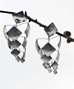Mobile earrings   Ruth Berridge.  Sterling silver. Mid 20th century