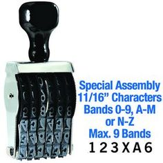 """#Special #Assembly #Line #Number Stamp 11/16 Character Size. Need a unique line number stamp? No problem! Click here to learn more about our Special Assembly Line Number Stamp 11/16"""" Character Size."""