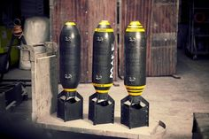 GP Bomb Replica - Complete from War Relic Replicas Aviation Furniture, Aviation Decor, Welding Art, Welding Projects, Ww2 Bomb, Reloading Room, Antique Phone, Fire Extinguisher, Küchen Design