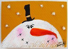 snowman magnet