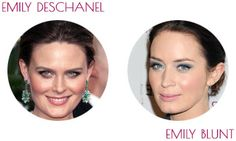 COOL SUMMER ~ cool and delicate celebrity examples: Emily Deschanel and Emily Blunt