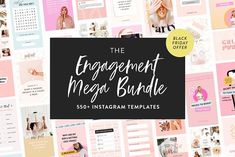 Mega Engagement Bundle for Instagram by My Boutique Themes on @creativemarket