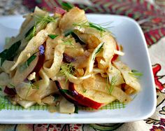 fennel, apple and walnut salad with pomegranate-orange dressing from The Perfect Pantry