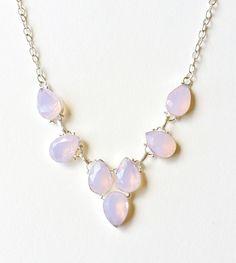 Rose Quartz Crystal Necklace - elegant jewellery, rose quartz jewellery, rose quartz necklace, elegant crystal necklace, faceted crystal by TheTeofMala on Etsy