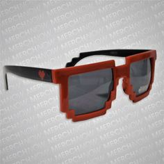 Pegboard Nerds Pixel Red sunglasses $5 http://monstercat.merchnow.com/products/161424