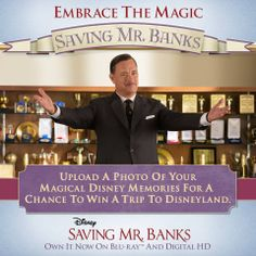 See Walt Disney through the eyes of the #SavingMrBanks cast and crew, and share photos of your own Disney memories for additional entries into the Magical Memories Sweepstakes!