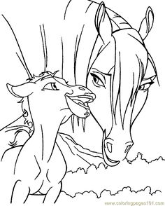 free printable coloring image Horse Coloring Page 0001 31