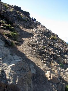 Rocky path to the peak of Flat Top, Anchorage, Alaska