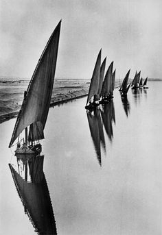 Egyptian Fishing Boats, Suarez Canal near Port Said,1935 by Alfred Eisenstaedt