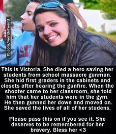She saved the lives of all of her students. ... Help keep her memory alive