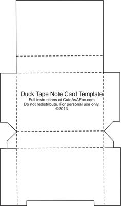 Cute As A Fox: Duck Tape® Flash Card Holder