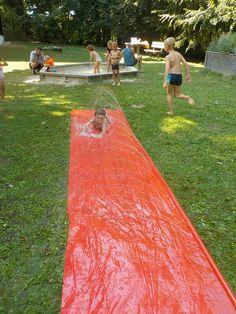 "Immer ""a Gaudi"" - Wasserrutschbahn in der BIBI Kinderwelt. Picnic Blanket, Outdoor Blanket, Gaudi, Antoni Gaudi, Picnic Quilt"