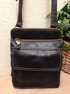 0c405e4a6c Relic Black Pebble Faux Leather Organizer Crossbody Bag Shoulder Handbag  Small