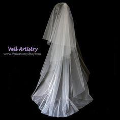 Bridal Veil Radiance Veil 2-Tier Veil Sweep Veil by VeilArtistry