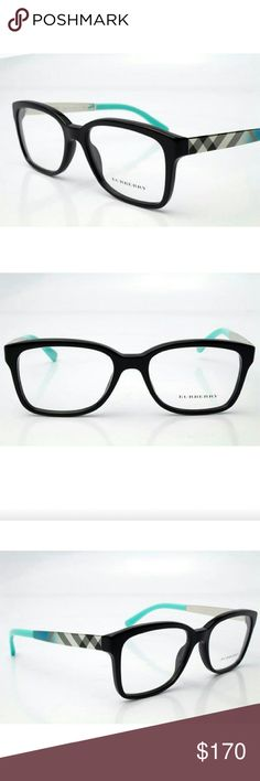 Burberry Eyeglasses Authentic Burberry Eyeglasses  Black and teal frame  Size 53-17-140 Includes original case only Burberry Accessories Glasses