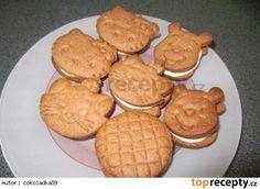 Delikatesní sušenky s mléčnou náplní Pancakes, Food And Drink, Cookies, Breakfast, Recipes, Basket, Fine Dining, Crack Crackers, Morning Coffee