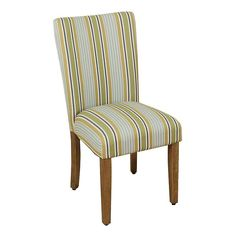 HomePop Striped Parson Dining Chair,
