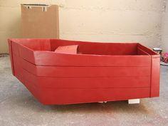 boat from cardboard box
