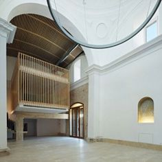 Historic Spanish chapel renovated and  repurposed by Adam Bresnick Architects