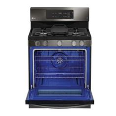 LG Electronics 5.4 cu. ft. Gas Range with Even Jet Fan Convection Oven in Black Stainless Steel-LRG3193BD - The Home Depot