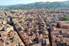 Twitter / @thinkingnomads: 498 steps to the top of the Asinelli Tower on Bologna: are you up for it? The view is breathtaking
