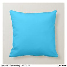 Sky blue solid color throw pillow Navy Blue Pillows, Blue Throw Pillows, Decorative Throw Pillows, Decor Pillows, Blue Cushions, White Pillows, Modern Pillows, Colorful Pillows, Designer Pillow