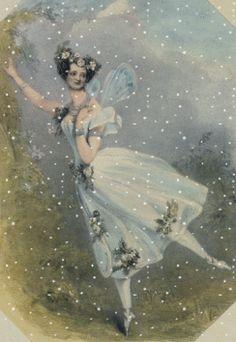 Ballerina Marie Taglioni in La Sylphide 1820