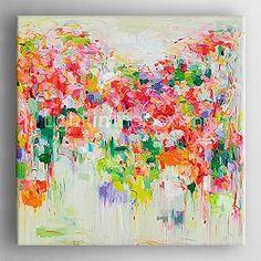pintado a mano la pintura al óleo abstracta moderna con marco estirada listo para colgar - EUR €58.79