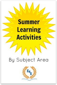 Fun, interactive summer learning activities for kids! Summer Learning program printable included.