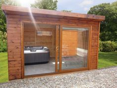 installiing a hot tub in a slider is a very cost effective way of keeping the intergration without the cost of the bi-fold