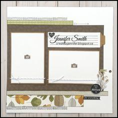 Create By Jennifer: Falling for You workshop! Scrapbook Sketches, Scrapbook Page Layouts, Scrapbook Cards, Scrapbooking Ideas, Heart Projects, Halloween Scrapbook, Card Making Kits, Fall For You, Layout Template