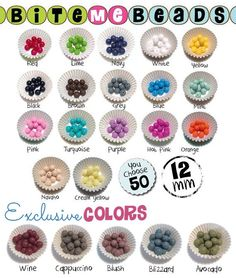 50 Silicone Beads (12mm Round) YOU Choose Colours - Loose Teething Chew Baby Jewelry Teething Necklace Teether Toy DIY Supplies