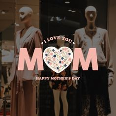 Window Stickers, Window Decals, Vinyl Wall Decals, Retail Windows, Store Windows, Mothers Day Decor, Happy Mothers Day, Morhers Day, I Love You Mother