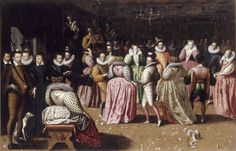 Ball in the court of Henry III, painting, French School, second half of the sixteenth century. Louvre