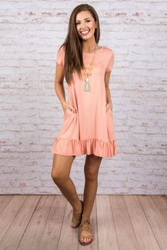 With Every Breath Dress, Peach Sexy Summer Dresses, Summer Dress Outfits, Casual Summer Outfits, Stylish Dresses, Sexy Outfits, Trendy Outfits, Casual Dresses, Fashion Outfits, Fall Outfits