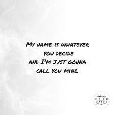 Don't Blame Me. ×