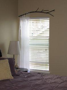 window treatment ideas diy unique branch curtain rod decoration