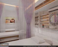 Khách hàng đi qua sẽ bị hút hồn ngay bởi ánh sáng nổi bật và không gian đẹp mắt nơi đây. Việc lựa chọn gam màu tím mộng mơ tạo hiệu ứng thị giác rất tốt cho thiết kế spa đẹp. #saokimdecor #thiếtkế #thietke #spagreen #thietkenoithat #thicongnoithat #noithat #nộithất #phongkhach #thietkephongkhach #spa #thietkespa #interior #apartment #apartmentdecor #designinterior #spadecor #designspa Design Shop